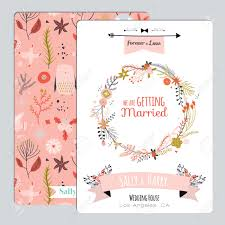 vintage romantic floral save the date invitation in bright colors
