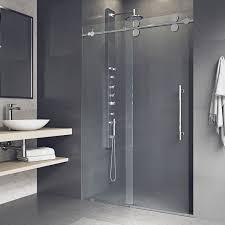 28 Shower Door Vigo 60 Inch Clear Glass Frameless Sliding Shower Door Free