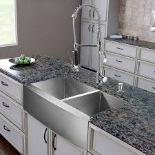 kitchen sink with faucet set vigo vg15269 all in one 36 inch farmhouse stainless steel