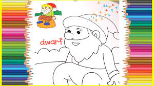 let u0027s color in a dwarf coloring pages learn colors youtube