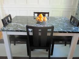 Black Dining Table Astounsding White Wooden Dining Table With Black Marble Top