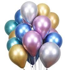 LAttLiv Party Balloons 50 Pcs Metallic Latex Balloons Chrome