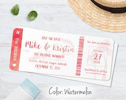 save the dates boarding pass save the dates blue weddings