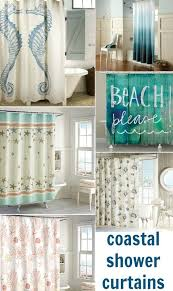 Beachy Shower Curtains Fashionable Coastal Shower Curtains To Bring Side