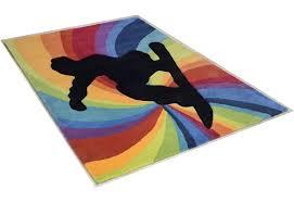 teppich für jugendzimmer teppich snowboarder theko rechteckig höhe 14 mm hochwertiges