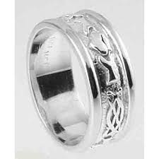claddagh wedding ring mens 10k 14k 18k white gold celtic claddagh wedding band ring
