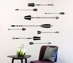 feather home decor wall decals arrow decal feather sticker rustic nursery decor boho