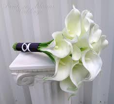 calla bouquet calla wedding bouquet white real touch bridal bouquet