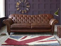 Chesterfield Tufted Leather Sofa Leather Sofa Moore Tufted Brown Chesterfield Top Grain Leather