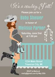 enchanting cowboy themed baby shower invitations 36 on thank you