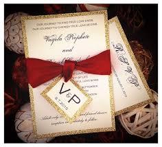 red and gold glitter wedding invitations gold glitter