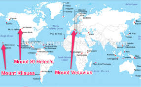 Algeria On World Map by Volcanoes Of The World Map Know It All