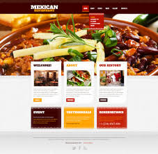 web cuisine restaurant website template 42181