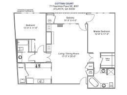 Sagamore Hill Floor Plan 77 Peachtree Place Ne 301 Atlanta Georgia 30309 Beacham