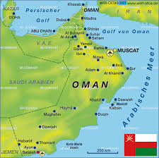 map of oman map of oman map in the atlas of the atlas