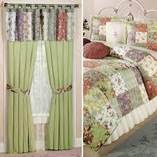 Prairie Curtains Blooming Prairie Cotton Patchwork Quilt Set Bedding