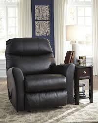 ashley 2950025 pranav rocker recliner black leather match upholstery