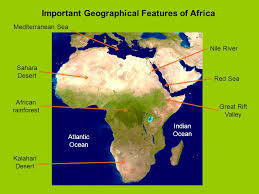 africa map deserts important geographical features of africa ppt