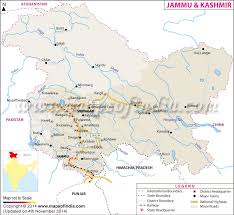 jammu and kashmir map state information facts and tourism
