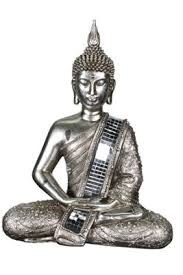 buy large decorative electroplated silver buddha