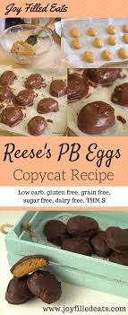 reese easter egg reese s peanut butter eggs copycat low carb sugar free