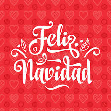 feliz navidad christmas card feliz navidad card on language stock vector