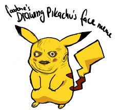 Meme Drawings - drawing pikachu s face meme by tannonclaw on deviantart
