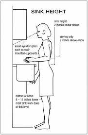 island height of kitchen sink drain rough in height of kitchen