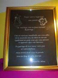 poeme sur le mariage poème pour mariage de ma nièce gravures sur verre