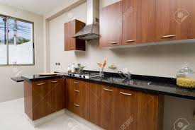 kitchen from a brand new modern modern house stock photo picture
