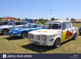 renault gordini r8 renault 8 gordini racing equipped with red bull advertising on the