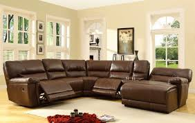 Brown Leather Sectional Sofa With Chaise Sectional Sofa Design Recliner Sectional Sofas Microfiber