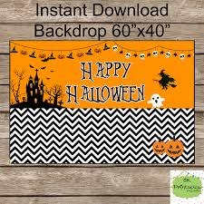 Halloween Backdrop Happy Halloween Backdrop Instant Download By Okprintables On Zibbet