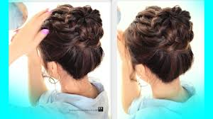 different hairstyles in buns starburst braid bun hairstyle cute school braids hairstyles