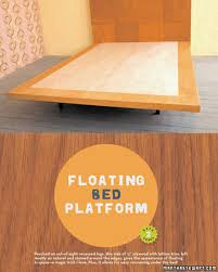How To Build A Platform Bed Video by Wooden Tile Headboard And Floating Bed Platform U0026 Video Martha