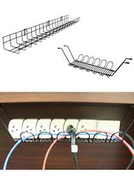 Cable Tray Under Desk Desk Cable Management Route Cables And Keep Them Hidden