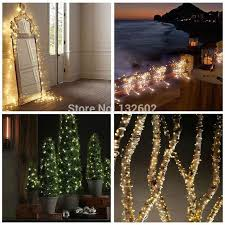 8 colors 12m 240leds outdoor led string lights warm white silver