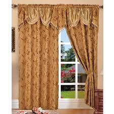 paula jacquard floral window panel u0026 valance 2 piece set