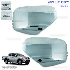 mitsubishi l200 2014 lh rh chrome mirror side cover genuine for mitsubishi l200