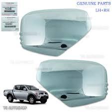 mitsubishi l200 2014 lh rh chrome mirror side cover genuine for mitsubishi l200