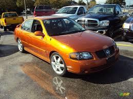 2006 volcanic orange nissan sentra se r spec v 57875570