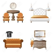 home design elements home interior design elements icons royalty free cliparts vectors
