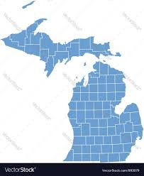 State Map by State Map Of Michigan By Counties Royalty Free Vector Image