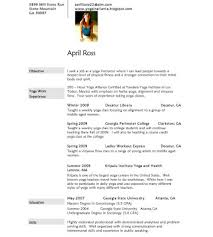Yoga Teacher Resume Yoga In The Office Yoga Resume And Yoga Certificate