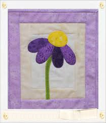 Purple Flower Rug Quilted Purple Coneflower Mug Rug National Quilters Circle