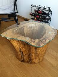 Wood Stump Coffee Table Tree Trunk Recycled In Coffee Table Wood Table Floor Lamps And