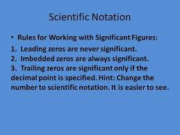 working with scientific notation measurement scientific notation for working with