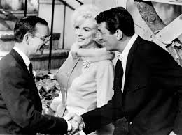 marilyn monroe with dean martin and wally cox in