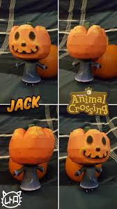 animal crossing papercraft jack halloween by superretrobro on