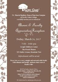 Invitation Cards For Alumni Meet Alumni U0026 Faculty Appreciation Reception Tickets Fri Mar 24 2017